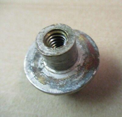 """1 Antique Porcelain Plug Button Cold Clawfoot Tub Shower Faucet 1-1/16"""" 1/4-20NC 5"""