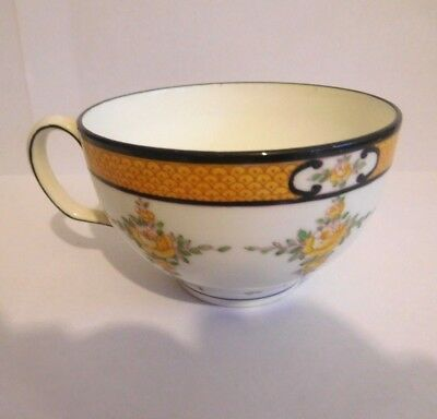 Early 20Th Century Mintons Yellow Roses Cup Saucer And Plate Trio 3