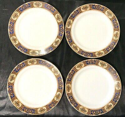 Vintage Victoria China Czechoslovakia Vit68 Set Of 4 Salad / Dessert Plates 2