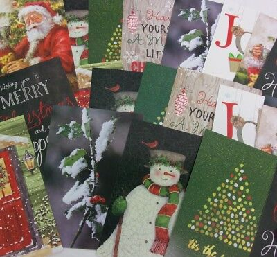Lot of 25 Christmas Cards Envelopes Holiday Random Paper Unused 2
