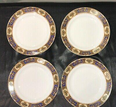Vintage Victoria China Czechoslovakia Vit68 Set Of 4 Salad / Dessert Plates 10
