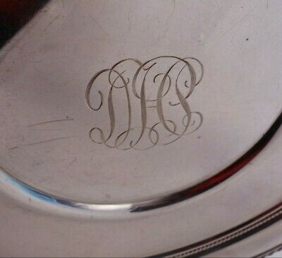 English Gadroon by Gorham Sterling Silver Serving Plate Round #414 (#3355) 5