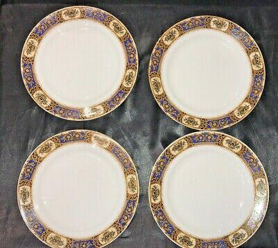Vintage Victoria China Czechoslovakia Vit68 Set Of 4 Salad / Dessert Plates 4