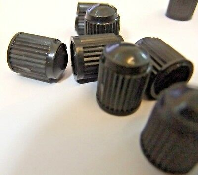 12 x Top Quality Black Plastic Valve Dust Caps For Cars Bike Cycle Universal Fit 7