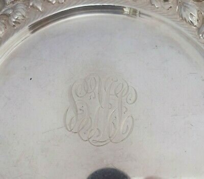 "Rose by Stieff Sterling Silver Bread and Butter Plate 7"" Diameter #225 (#3521) 5"