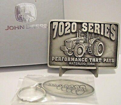 *John Deere 7000 Ten Ser 7810 7710 7610 7410 Tractor Belt Buckle 1996 Waterloo