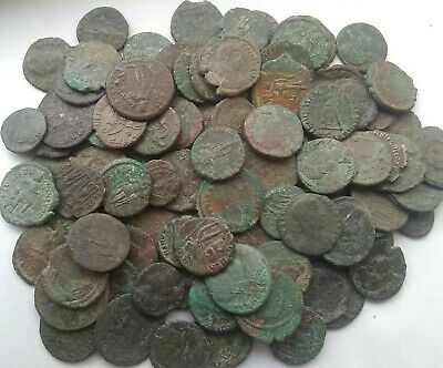Lot 3 genuine Ancient Roman coins not cleaned Constantine, Licinius, Valentinian 2