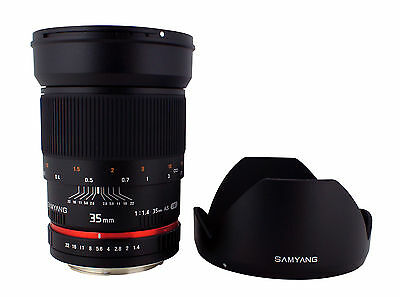 Samyang 35mm F1.4 Wide Angle Lens for Nikon Digital SLR with Auto Chip 2