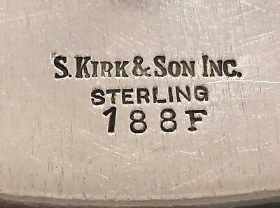 Big S. Kirk & Son Hand Decorated Sterling Silver Sandwich Plate 5