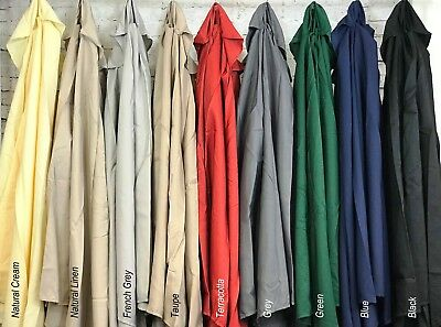 2m 2.5m 2.7m 3m 3x2m Replacement Fabric Garden Parasol Canopy Cover 6 or 8 Arm 2