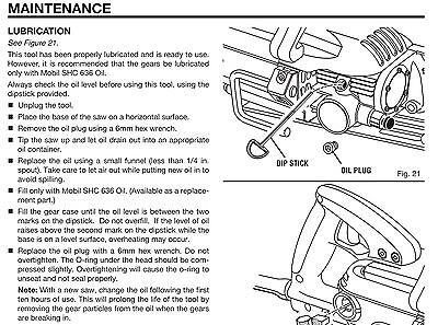Ridgid Worm Drive Saw Oil Mobil SHC 636 lubricant Circular Rigid SHC636 Grease