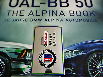 Alpina Castrol Sticker Aufkleber Engine Oil Label Bmw C1 C2 B8 40 B6s B7s Turbo