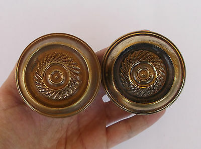 Vintage Pair Of Brass Handle/knobs 10