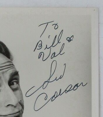 Sid Caesar to his Hair Stylist, Original Autographed Photo, Famous Movie Star 2