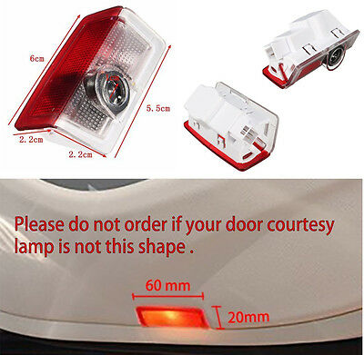 Projector Door CREE LED Courtesy Light Puddle Ghost Laser LOGO For Mercedes Benz 9