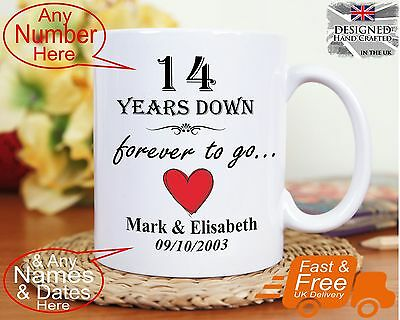 20TH WEDDING ANNIVERSARY gift 20 years marriage, Any dates names any ...