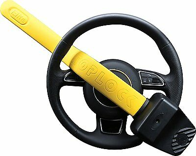 Stoplock Pro Elite Yellow Anti Theft Security Steering Wheel Lock to fit Audi A6 3