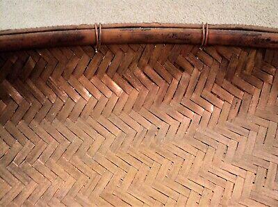 "Antique Large Japanese WOVEN Pure COPPER BOWL Basketweave Pattern 9.5"" - Estate 4"