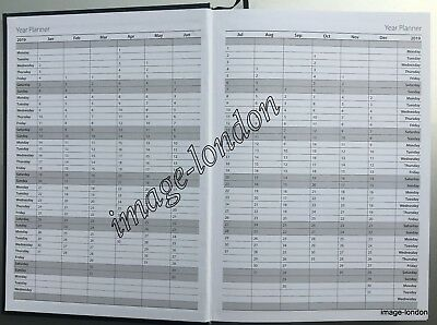 2019 diary A4/A5 Page a Day/Week to View Diary Hardback Casebound Black cover