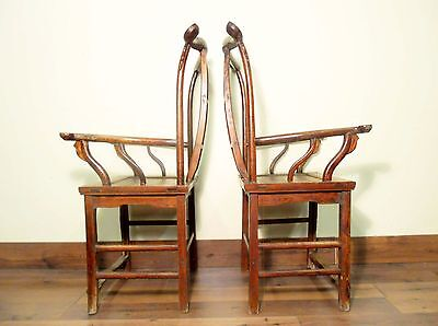 Antique Chinese High Back Arm Chairs (5637) (Pair), Circa 1800-1849 12