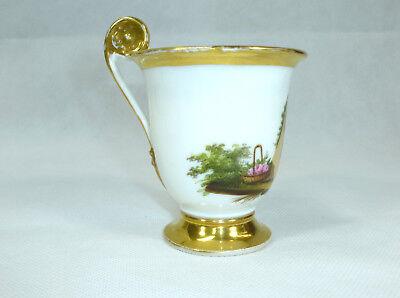 Biedermeier Tasse mit Untertasse um 1850 10