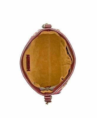 NWT Patricia Nash Crossbody Bag Shoulder Handbag Tapestry Leather burgundy brown 8