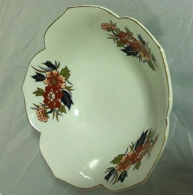 Japanese Imari Ware Ceramic Bowl Antique Vintage Asian China Floral Dish Rare 3