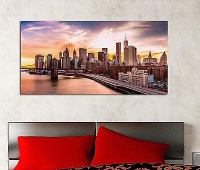 Quadro moderno NEW YORK SKYLINE Città Arredamento Stampa Tela Arredo Casa Arte 2