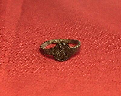 Medieval Seal Ring - Bird Seal, 12. Century 4