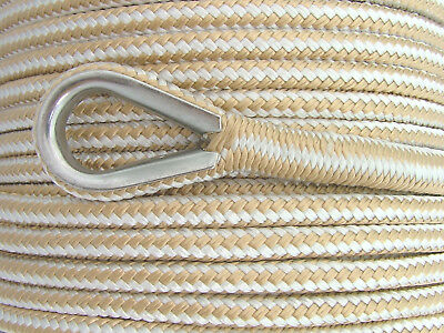 8mm x 100M Double Braid Nylon Anchor Rope, Super Strong, Great for Drum Winches 2