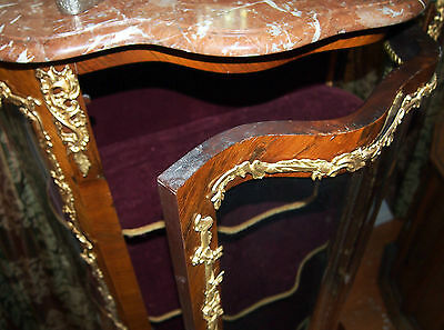 """Vitrin 19C French Bronze Work And Glass Doors  With Marbel Top :57"""" High 9"""