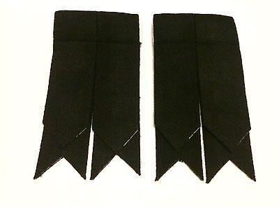 Kilt Hose Sock Flashes BLACK/Kilt Sock Flashes Black 2