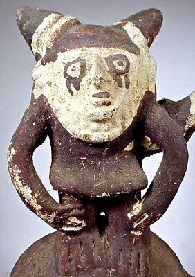 Pre-Columbian CHANCAY TWO-DRUM FIGURAL VESSEL PERU COA 4