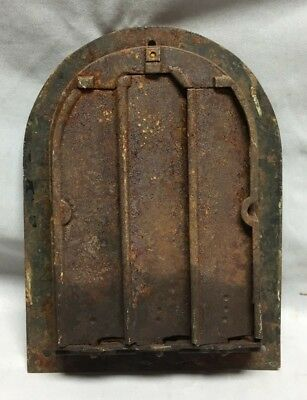 Antique Arched Top Heat Grate Maltese Cross Gothic Arch 7X10 165-19C 6