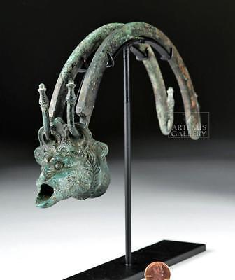 Hellenistic Greek Bronze Situla Handle w/ Spout Lot 27A