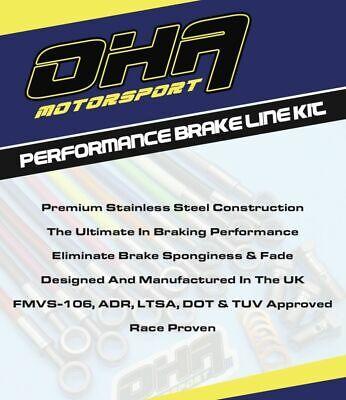 Aprilia Pegaso 650 Trail 05-09 OHA Stainless Braided Front /& Rear Brake Lines