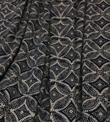 55bd5eece0b ... Viscose Spandex Jersey Print Knit Fabric Beautiful Geometric Design  Navy Combo 3