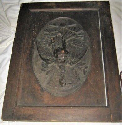 18th. CENTURY CARVED BLACK FOREST FRENCH PHEASANT BIRD PANEL ART SCULPTURE DOOR