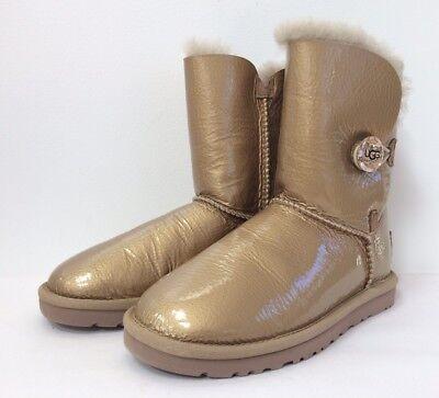 a66d579ed71 NEW UGG AUSTRALIA Bailey Button SWAROVSKI Crystal Ornate Sheepskin Boots  Size 5