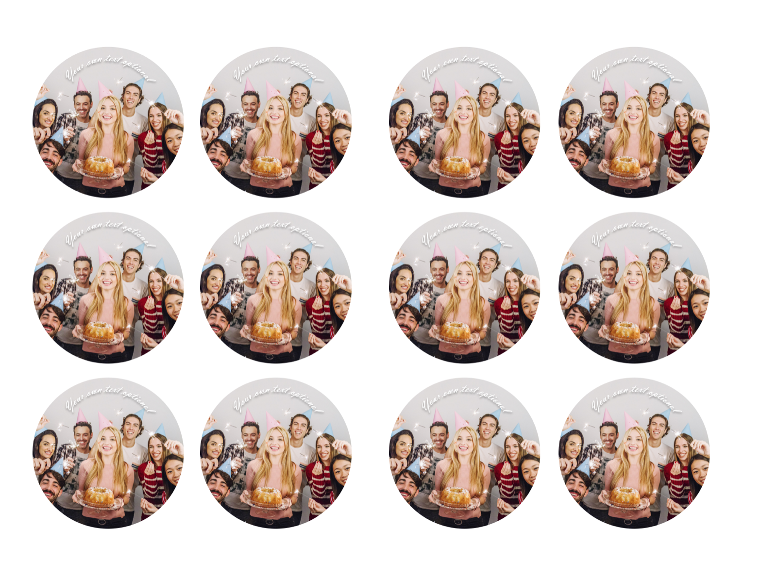 YOUR OWN EDIBLE PHOTO cupcake toppers ANY personalised image ICING OR WAFER 2
