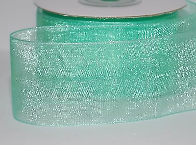 2-10m  Various Colours-Types  Woven Edge Organza Sheer Chiffon Wedding Ribbon 7