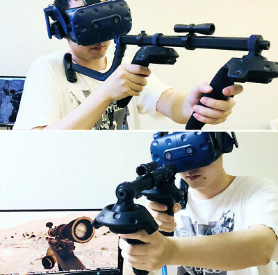 Martial Clothing Martial Pants Move Controller Double Handle Vr Helmet Game Rifle Shooting Gun For Htc Vive