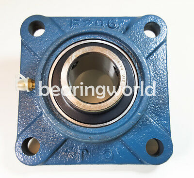 UCF206-30MM  NEW High Quality 30mm  Insert Bearing with 4-Bolt Flange UCF206 2