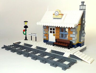 Lego Winter Village Train Station Instructions Only Like 10259