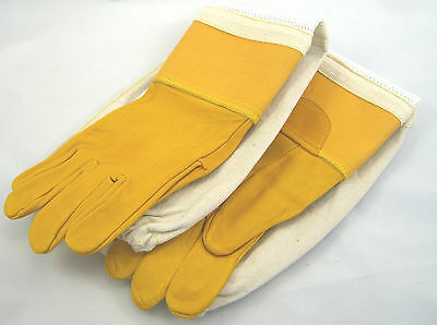 Childrens gold ventilated beekeeping Gloves (large and Small) 6