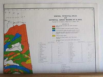 Alaska's Mineral Potential 1978 Oil Gas Geothermal Uranium Metals Coal 8 Maps 9