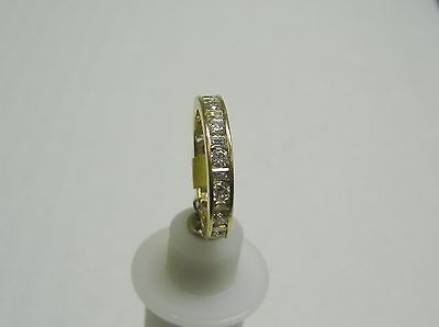 14K Yellow Gold Channel Set Baguette/Round Cubic Zirconia Ring Size 8 G32-R 4