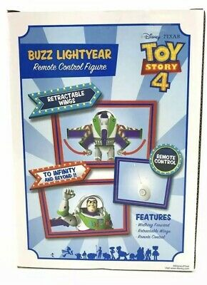 DISNEY Toy Story Buzz Lightyear Remote Control WALKING With Retractable Wings 3