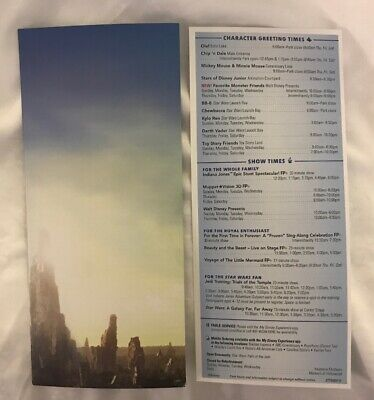 2019 Disney's Hollywood Studio Star Wars Galaxy Edge Opening Day Park Map 2