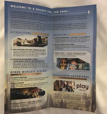2019 Disney's Hollywood Studio Star Wars Galaxy Edge Opening Day Park Map 3